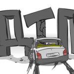 В Сенно в ДТП столкнулись сразу 4 машины