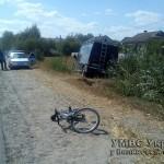 Вследствие аварий в больницы попали велосипедист и мотоциклист