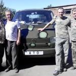 Киверцовская райсовет, бизнесмены и благотворители приобрели авто для военных