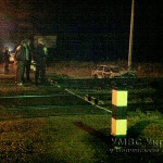На Волыни в результате аварии загорелся автомобиль
