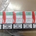 На Волыни остановили груз с 30 ящиками сигарет