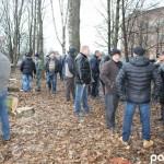 В Луцке люди блокировали вырубку парка