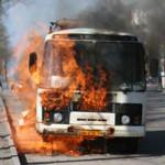 На Волыни загорелся автобус с пассажирами