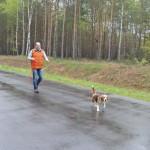 На Волыни впервые состоялись испытания охотничьих собак ранга САСТ по кровяному следу