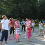 В Луцке продолжают пропагандировать утреннюю гимнастику для всех